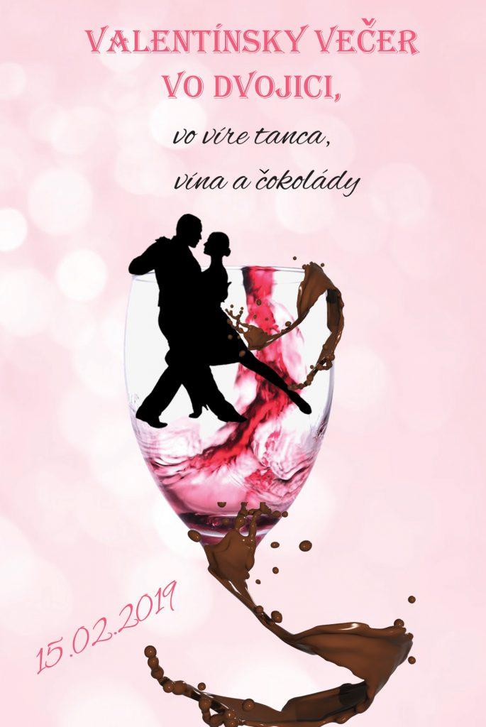 valentínsky večer pre páry, tanec, víno, čokoláda, valentín, bratislava, petržalka