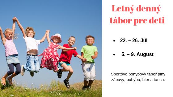 letting denny tabor pre deti Petrzalka Ovsiste Bratislava sport